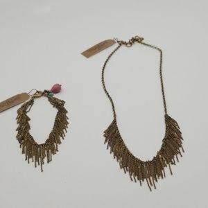 Lucky Brand necklace and bracelet
